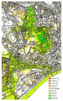 Blue Green Cities street map image