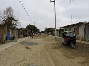 The main road in Piura, Peru