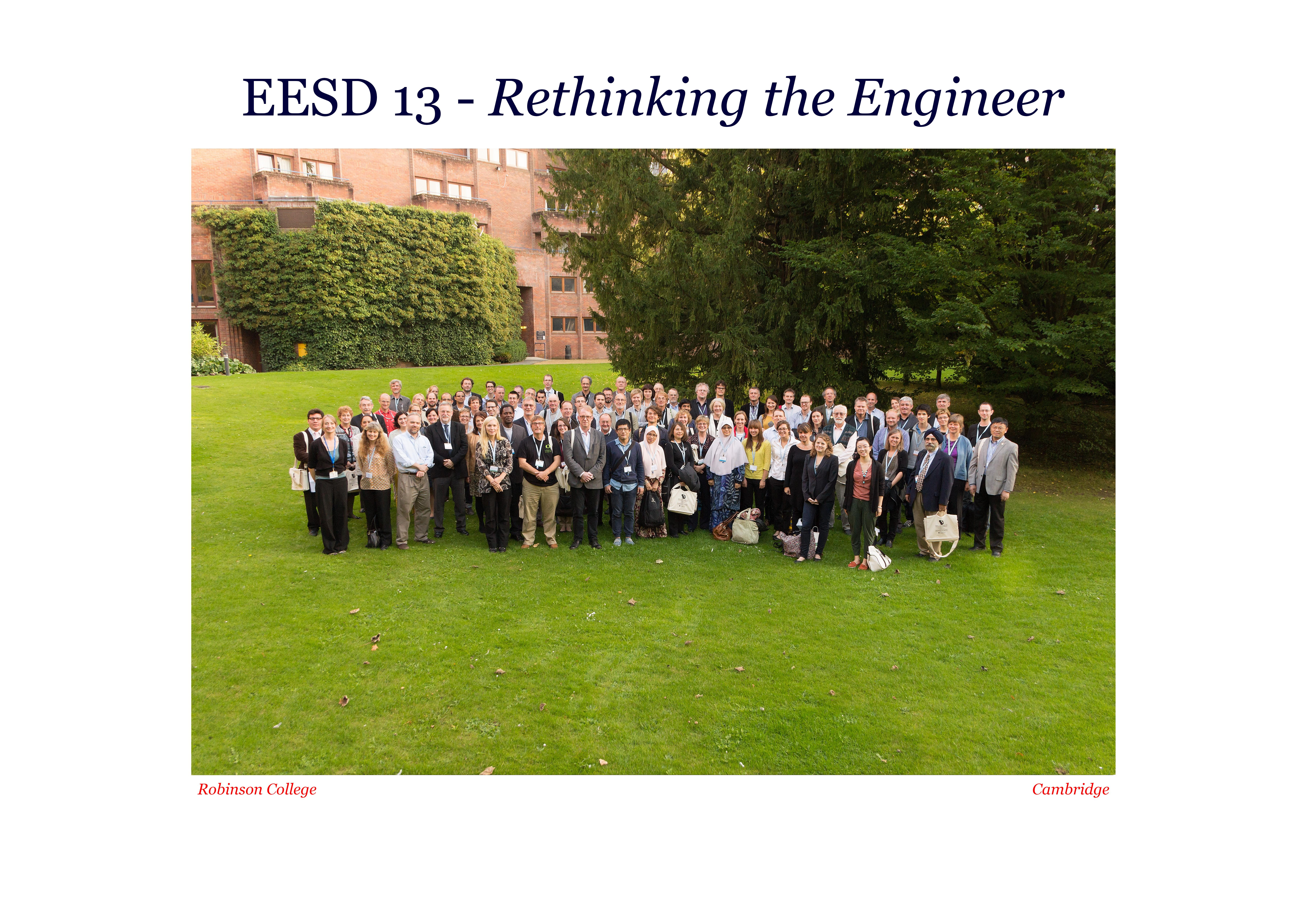 6th International Conference in Engineering Education for Sustainable Development (EESD13)