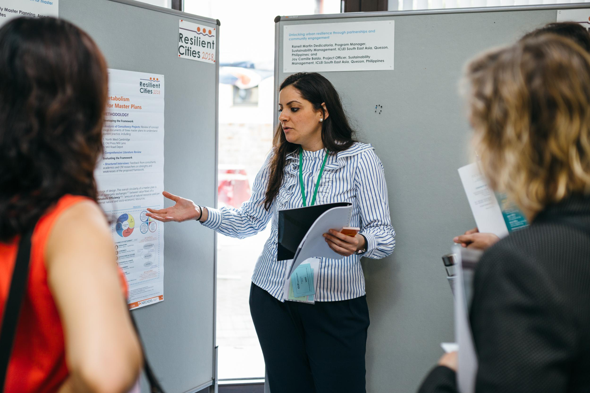 Menna Dessouki (ESD 15-16 ) presents at Resilient Cities 2018 conference